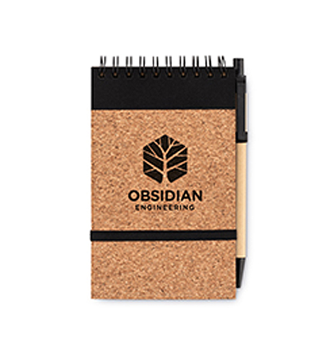A6 cork notebook with pen